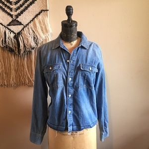 Madewell Distressed Denim Long Sleeve